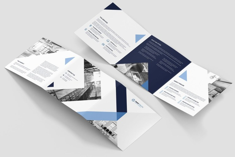 travel booklet psd