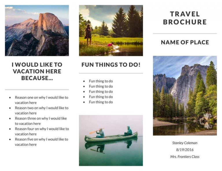 travel brochure templates examples