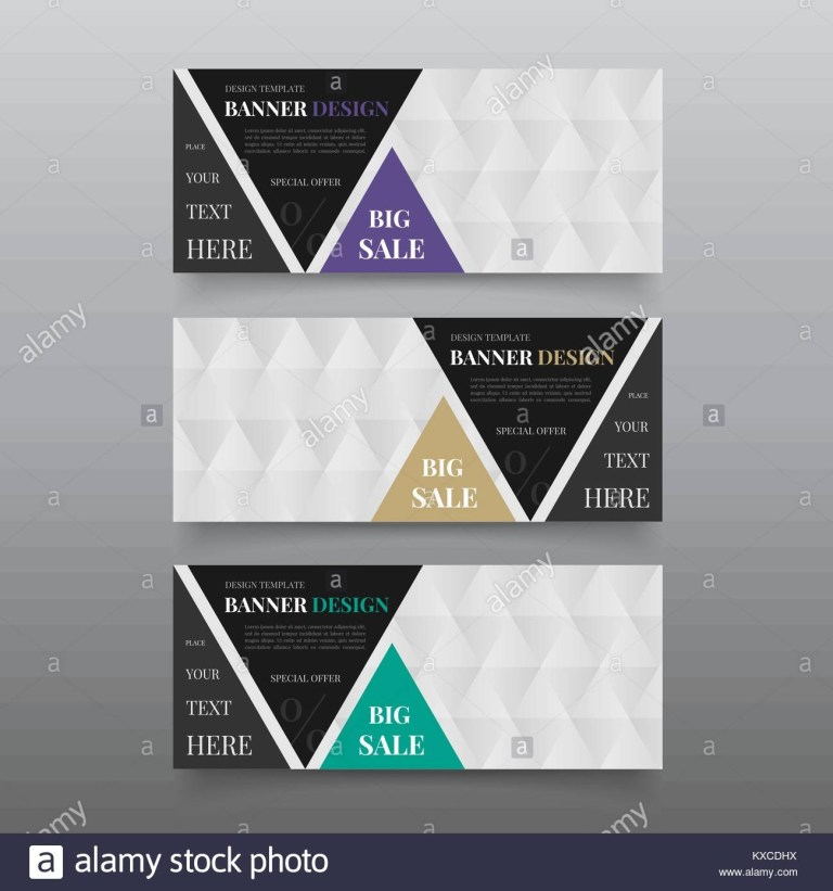 triangle banner design templates web banner design vector