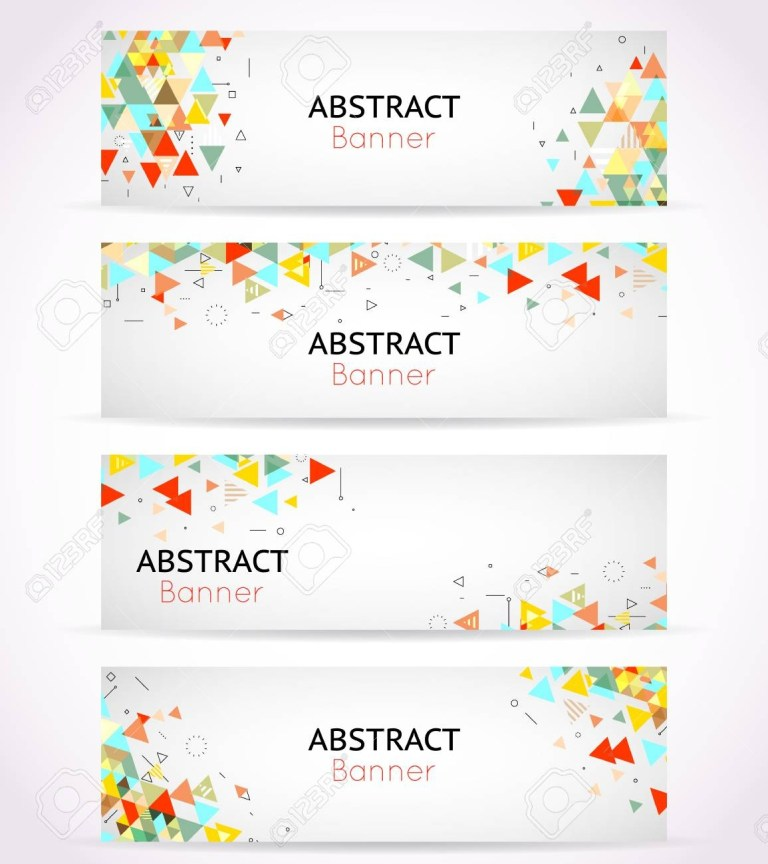 vector triangle polygonal banners or abstract headers template