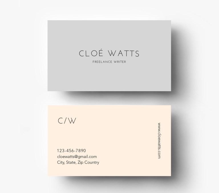 warm simple modern business card template