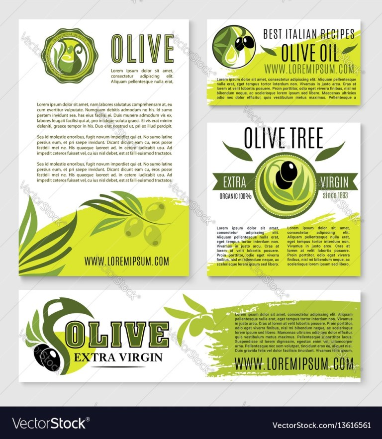 olive oil product poster templates