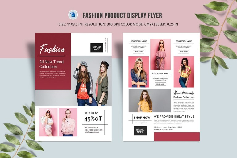 product promotion flyer template concept