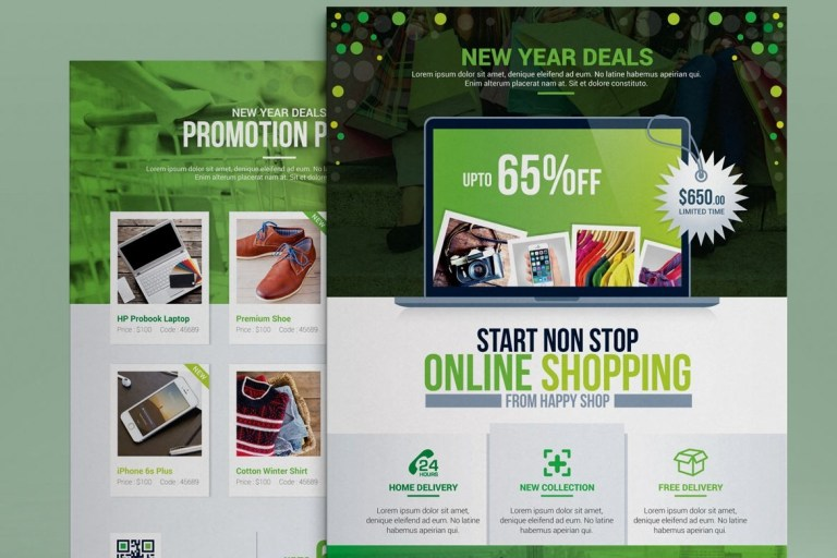 product promotional e commerce business flyer