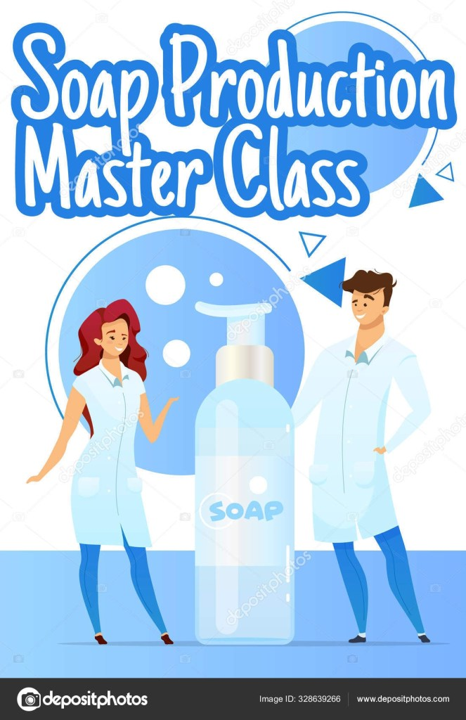soap production master class vector template
