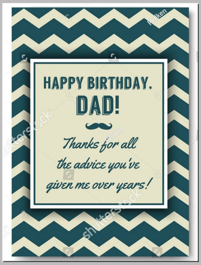 73 blank happy birthday card template for dad with stunning