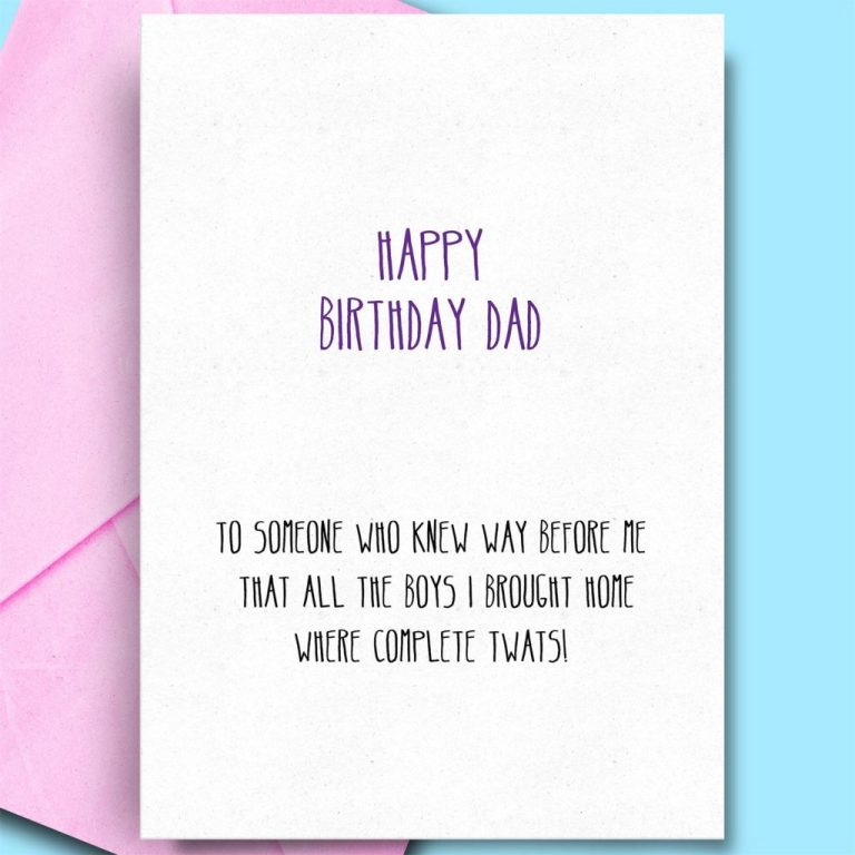 birthday wishes for father from daughter son funny rude