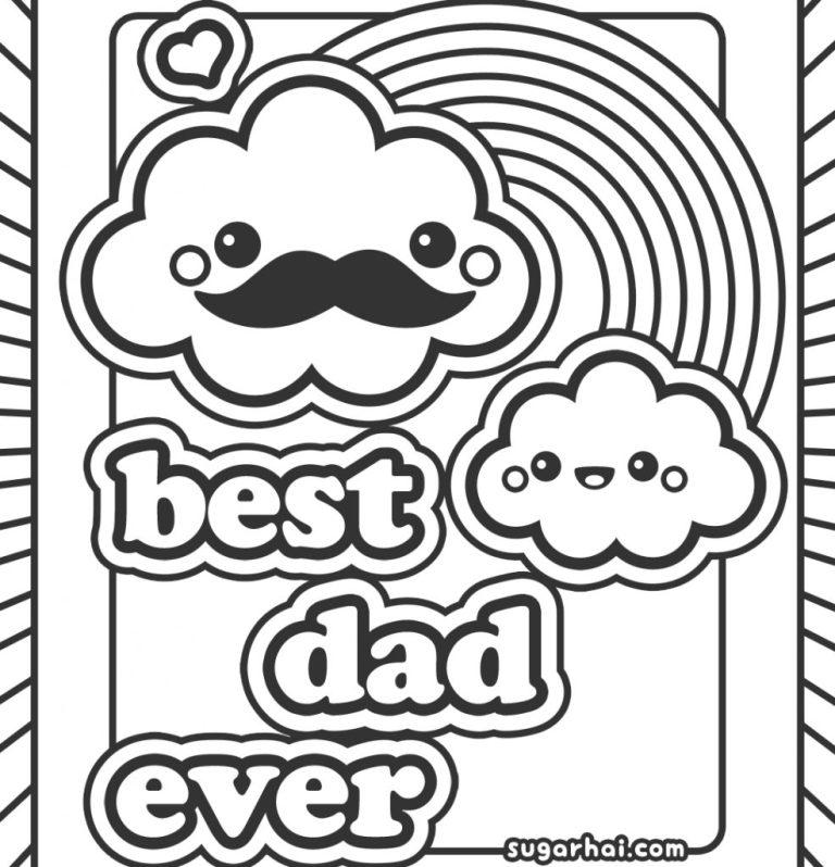 valentine card design happy birthday dad card to color