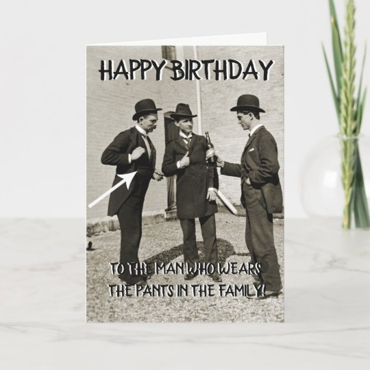1890s men toasting with beer happy birthday funny card