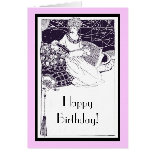1920 art deco birthday card zazzle