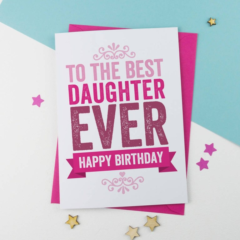 40th birthday card daughter card design template