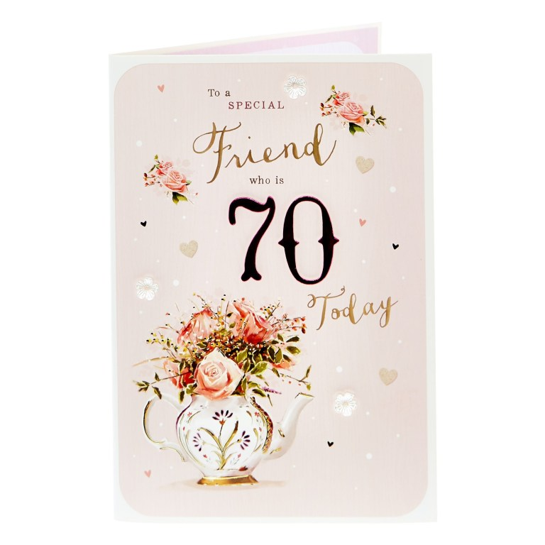 70th birthday card to a special friend