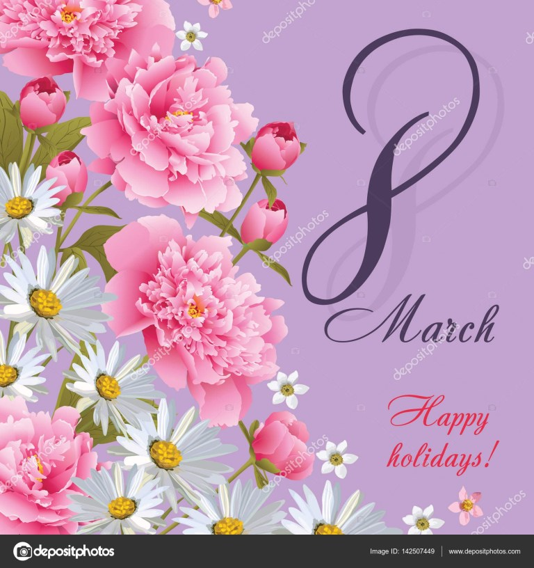 8 march womens day greeting card template happy womens