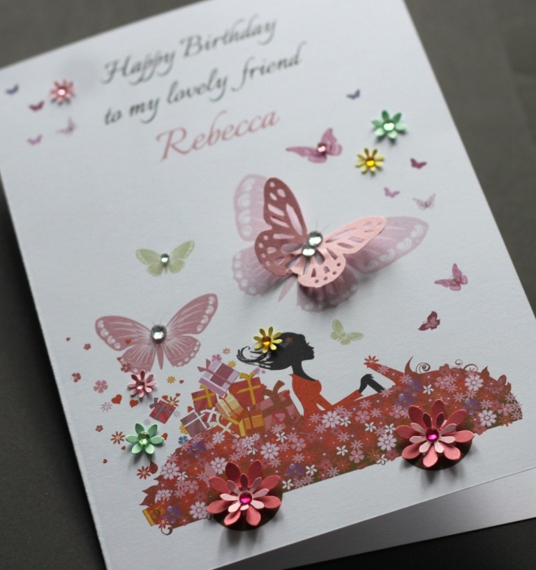 a5 handmade personalised cute car birthday card sister friend daughter mum