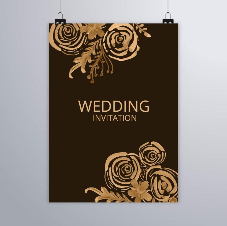 abstract wedding elegant brochure design download free