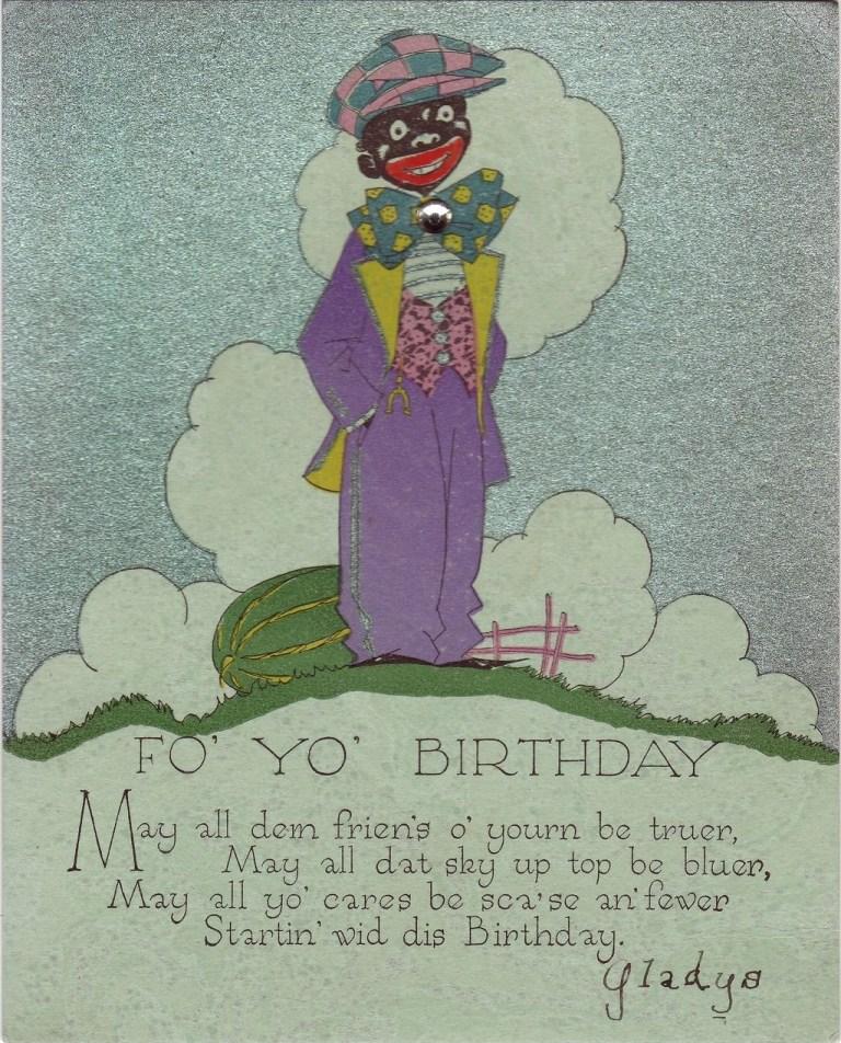 art deco novelty birthday card circa 1932 from decosurfn