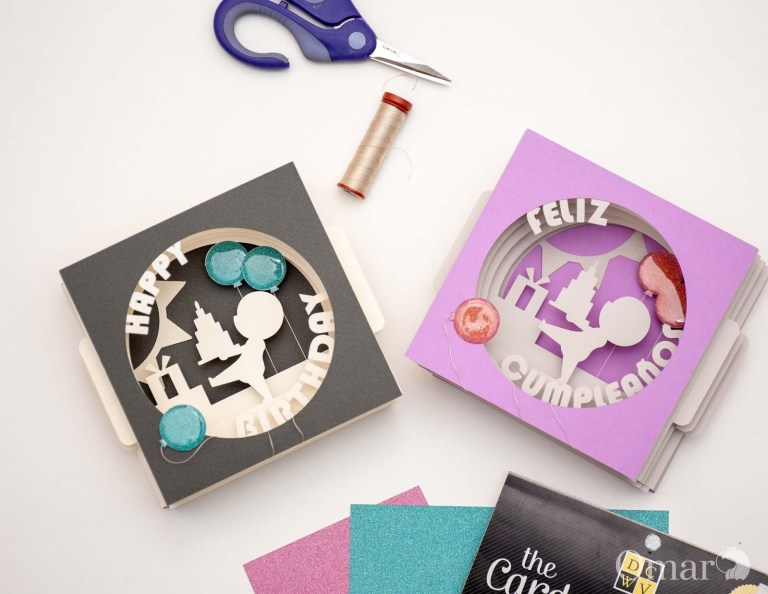 awesome svgs easy birthday tunnel cards with your cricut
