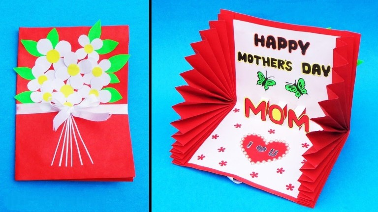 beautiful mothers day card idea handmade greeting card for mom diy mothers day pop up card