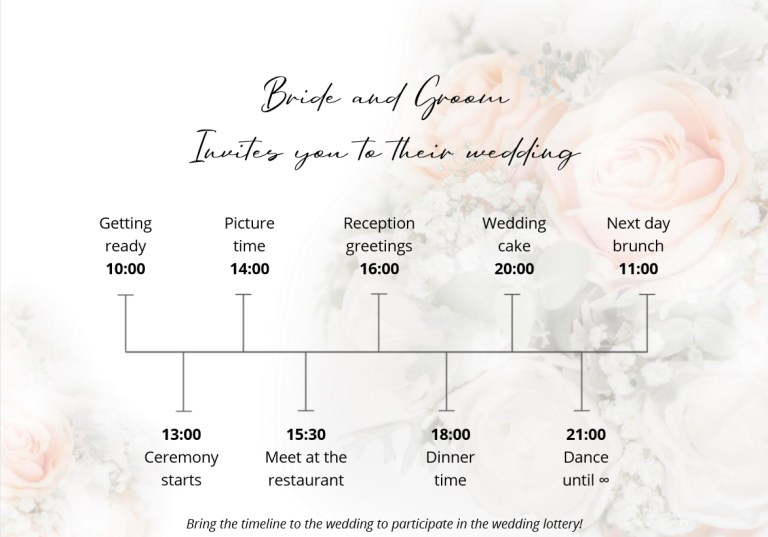 best 5 wedding timeline templates to download for free wedbox