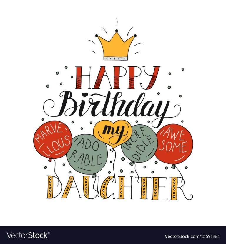 birthday card daughter card design template