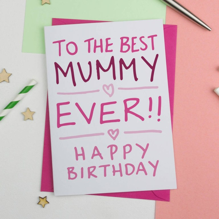 birthday card for mummy or mum