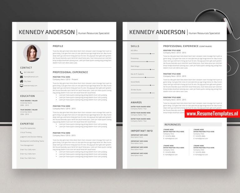 creative cv template resume template word curriculum