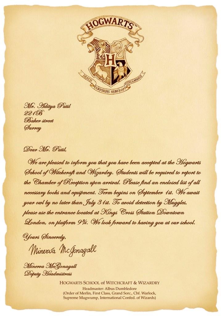 design custom hogwarts acceptance letter combo pack