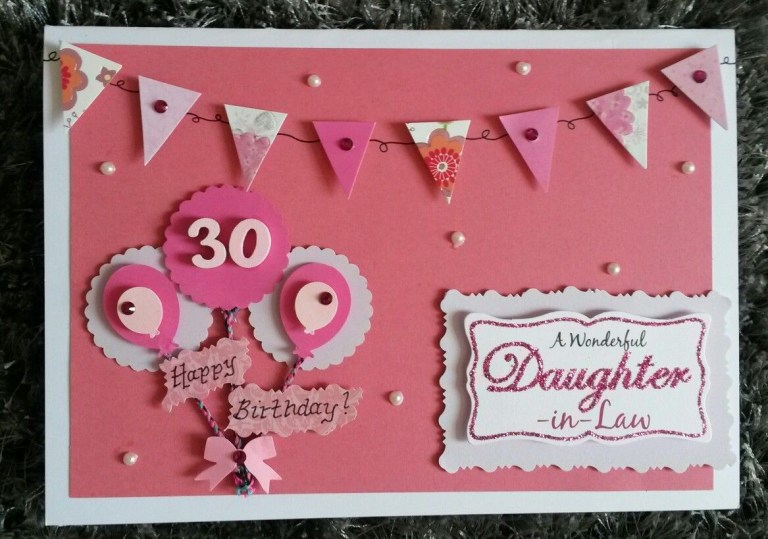 diy birthday card ideas for daughter in law step step