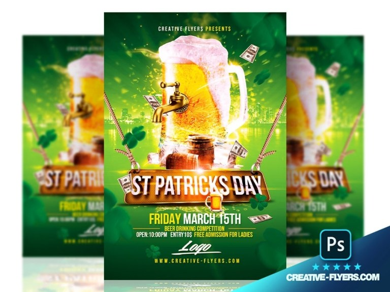 download st patricks day flyer psd templates creative