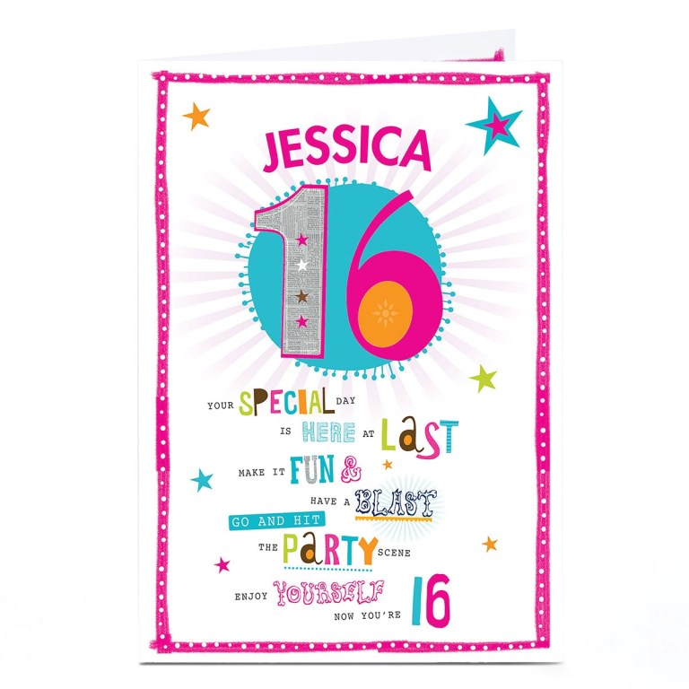 edit name personalised son daughter funny 17th birthday card