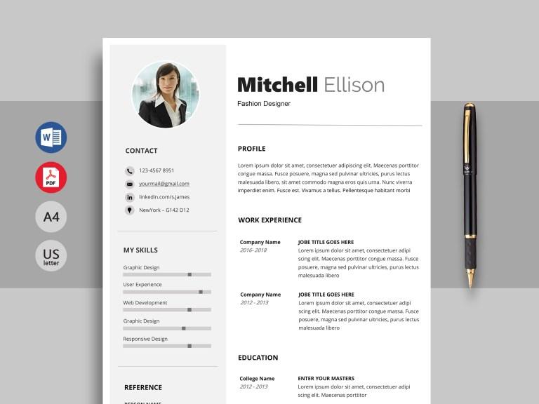 excel professional resume template word resumekraft