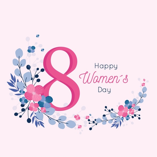 free vector happy womens day floral design for 8th march
