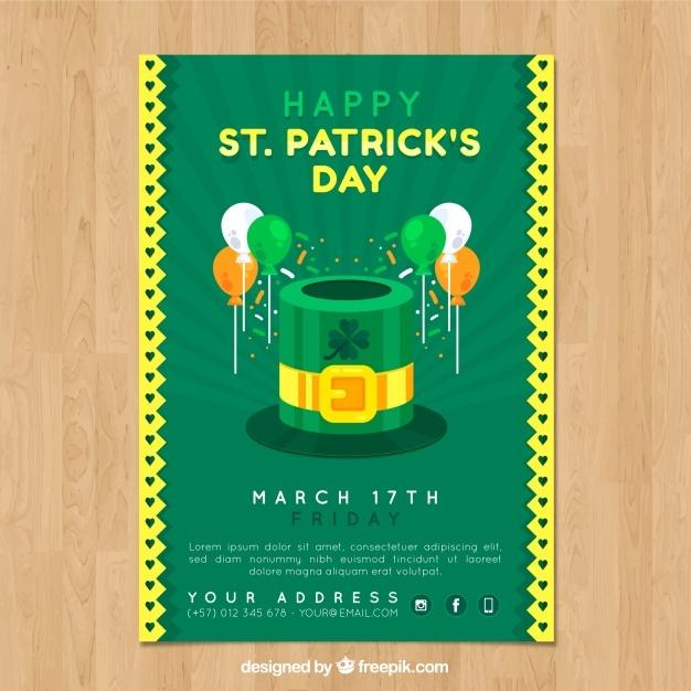 free vector st patricks day flyer
