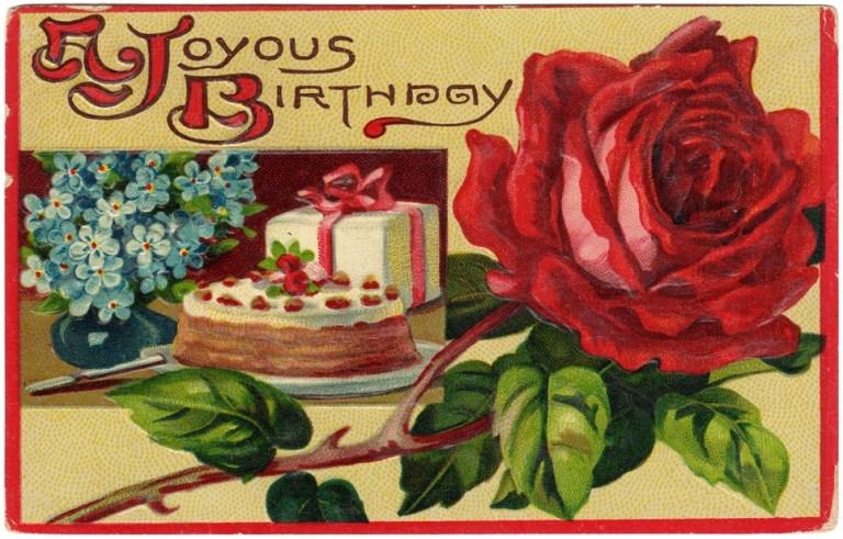 free vintage birthday greeting card free vintage