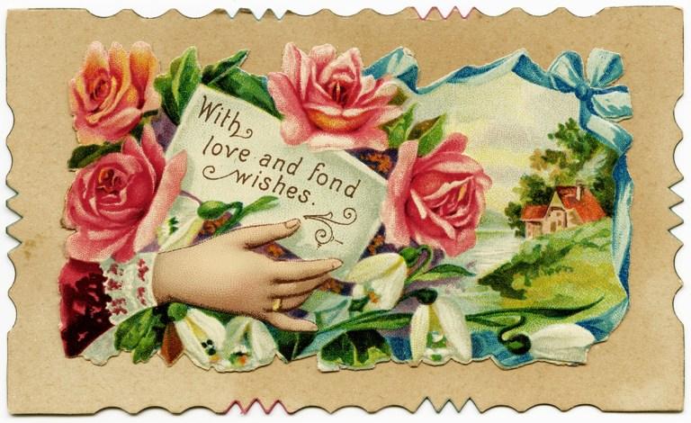 free vintage image victorian calling card old design