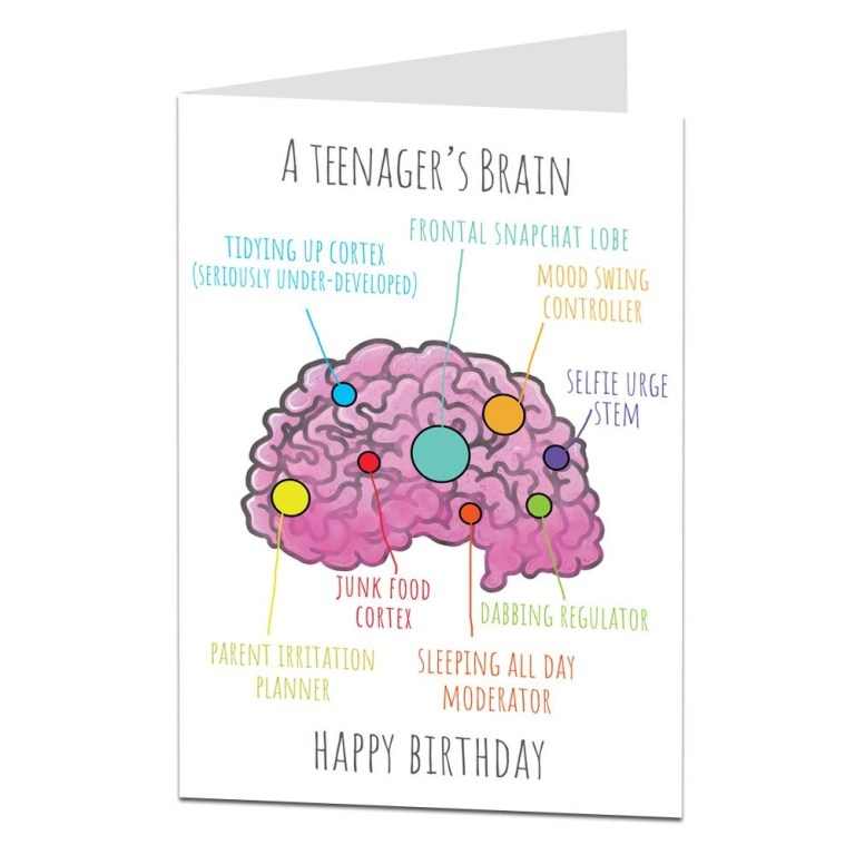 funny birthday card for a teenager perfect for 14th 15th
