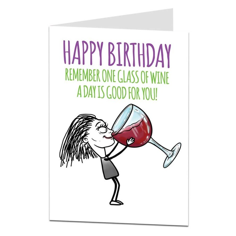 funny silly quirky birthday card for women female best
