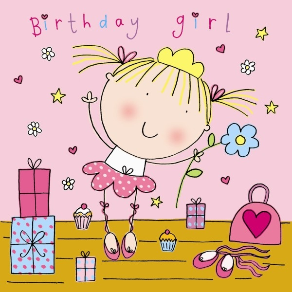 girly birthday cards