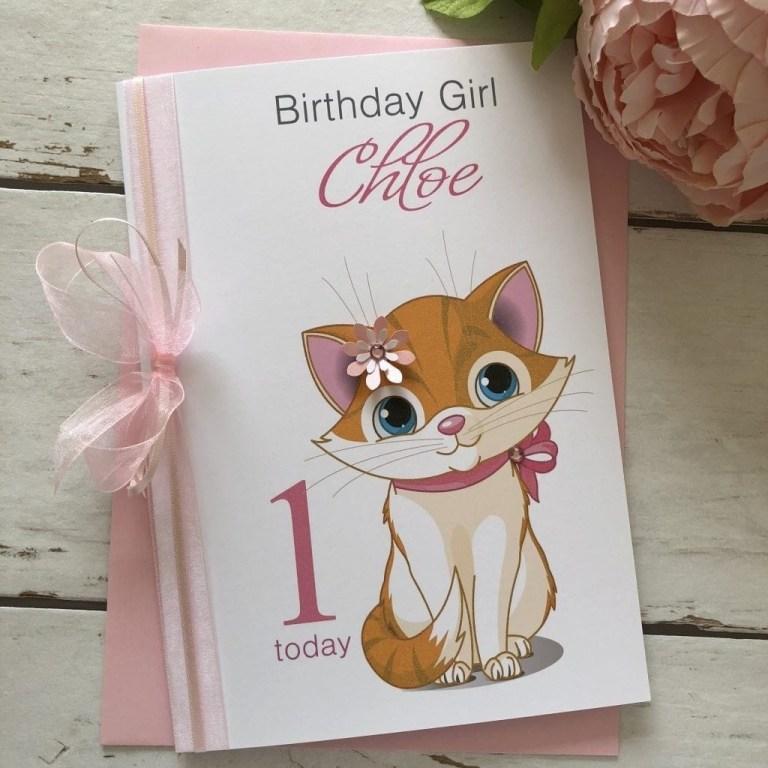 handmade birthday card cute cat handmade cards pink
