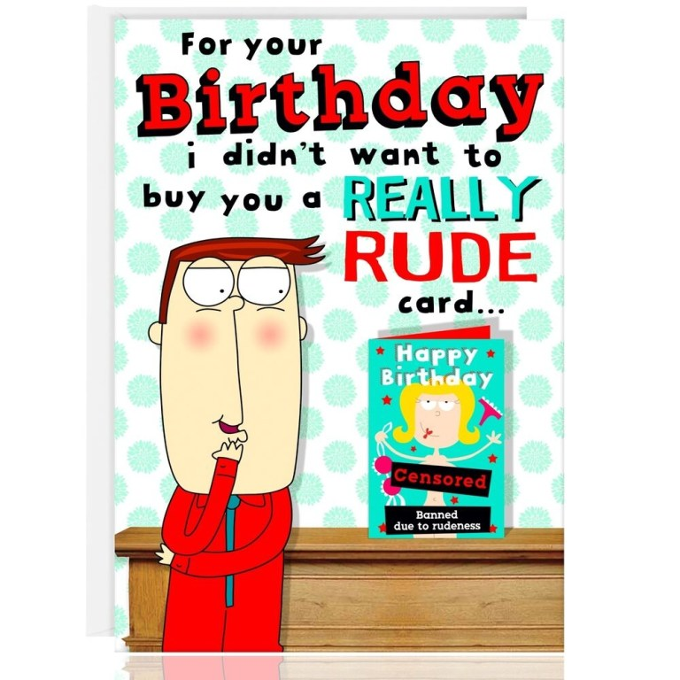 happy birthday greetings card funny humour cheeky rude