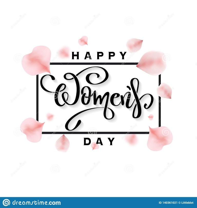 happy womens day banner with rose petals stock vector