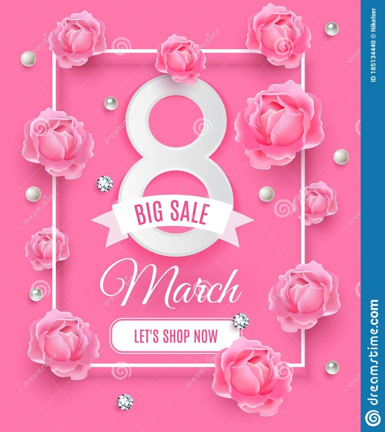 happy womens day big sale background poster template
