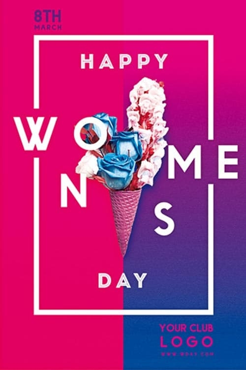 happy womens day free flyer template download club and