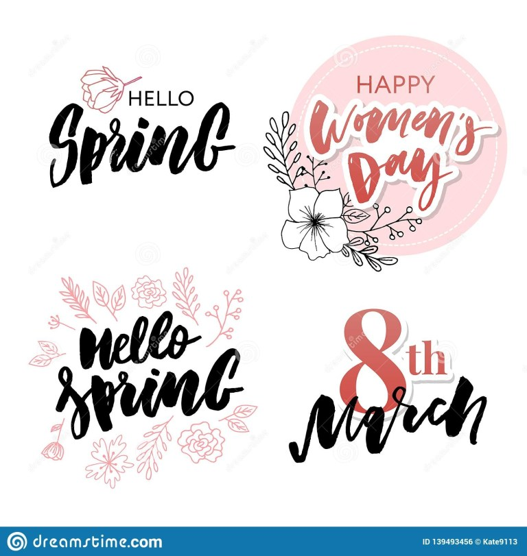 happy womens day set translation from russian march 8