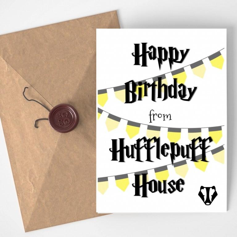 harry potter birthday card printable printable cards