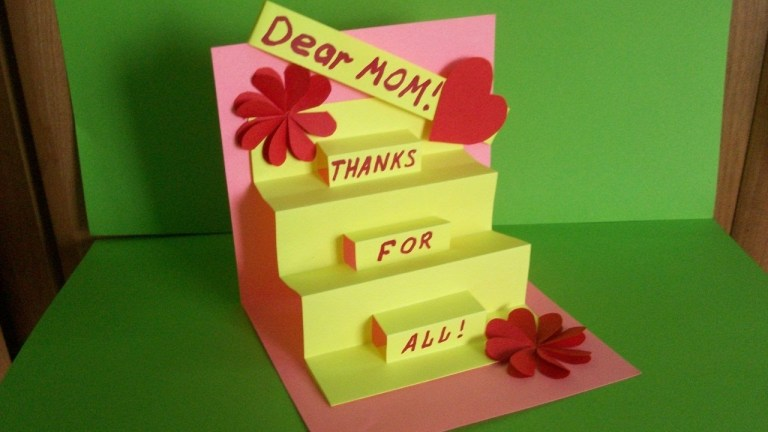 how to make a greeting pop up card for mom birthday mothers day handmade gifts and ideas