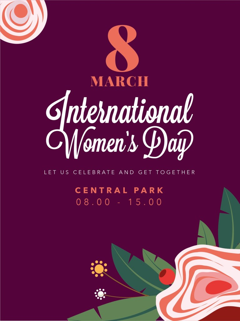international womens day floral poster download free