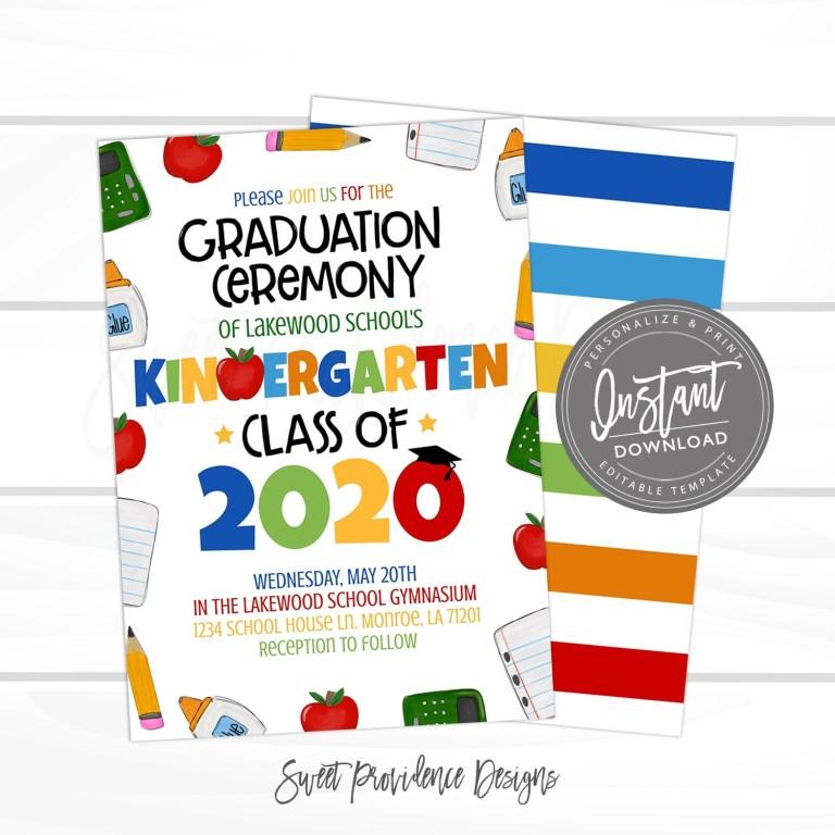 kindergarten graduation ceremony invitation