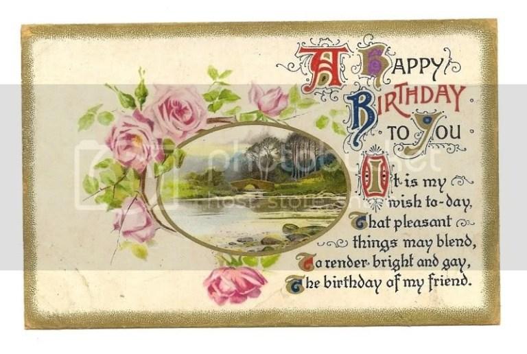 lovely vintage happy birthday greetings postcard sold
