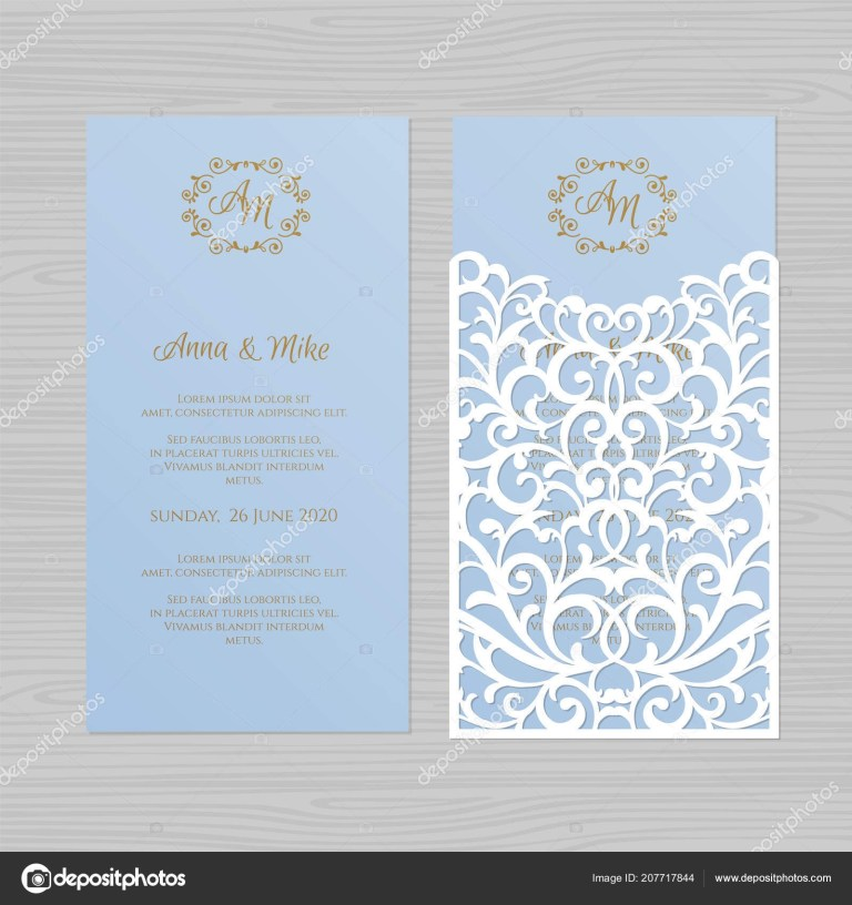 luxury wedding invitation or greeting card with vintage floral ornament paper lace envelope template wedding invitation envelope mock up for laser